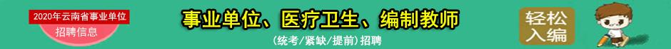 2020年云南省事业单位招聘信息汇总