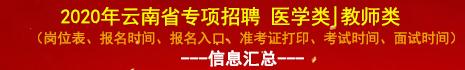 2020年云南省专项招聘(教师、医疗卫生)信息汇总